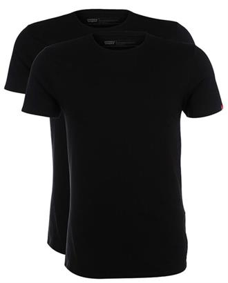 Levi's Slim 2 pack crew t black 8217600030