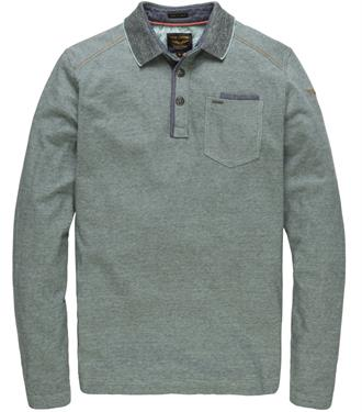 PME Legend Long sleeve polo yarn dyed fin PPS181858 5209