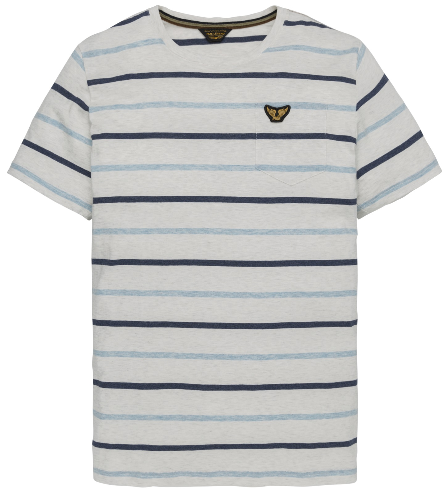 PME Legend Short sleeve r-neck yd striped PTSS194538 7003